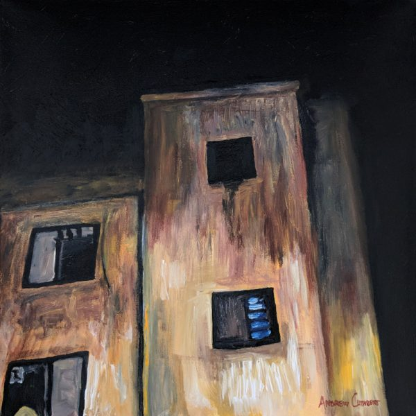 Abandoned? painting by Andrew Cuthbert