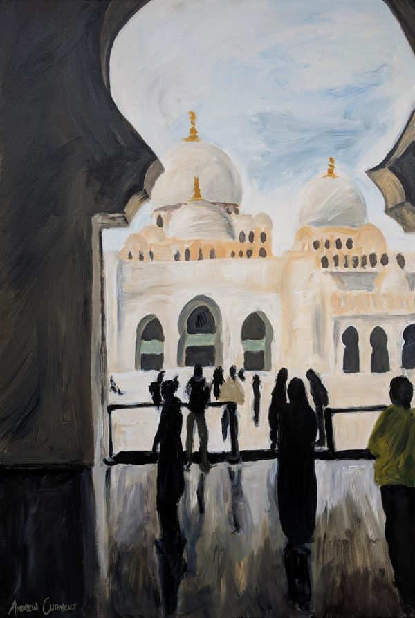 Sheikh Zayed Grand Mosque painting by Andrew Cuthbert