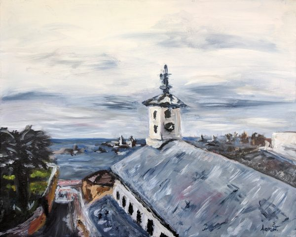 View Over Chapel at Simon's Town. Painting by Andrew Cuthbert