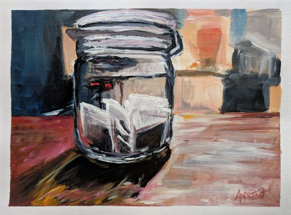 Tea Jar on Counter by Andrew Cuthbert