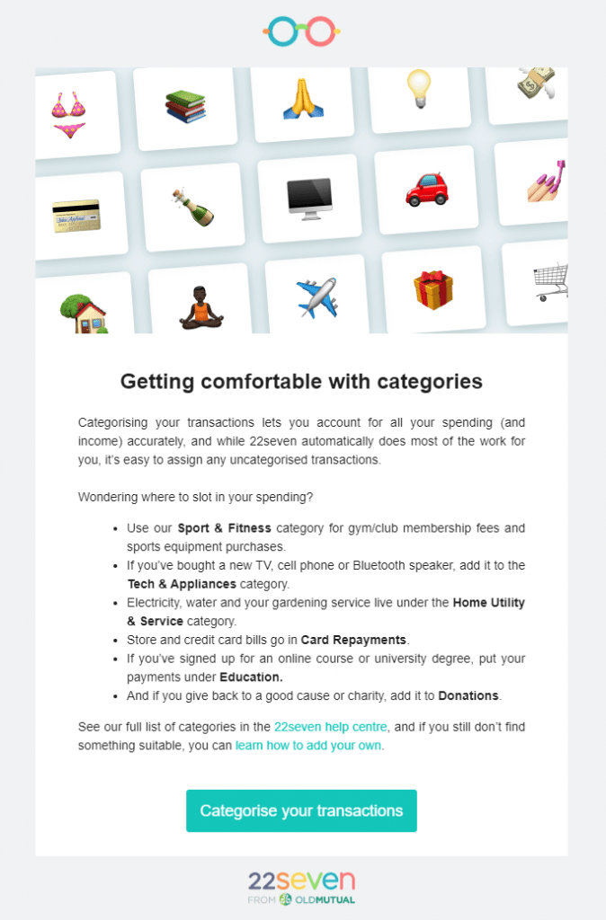 Feature mailer: Categories